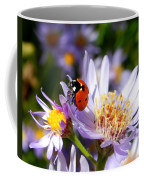Ladybug Shows Her Heart Coffee Mug