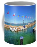 Lago Di Garda Harbor In Sirmione View Coffee Mug