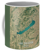 Lake Balaton 3d Render Satellite View Topographic Map Coffee Mug