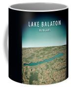 Lake Balaton 3d Render Satellite View Topographic Map Vertical Coffee Mug