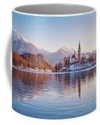 Lake Bled Winter Sunrise Coffee Mug