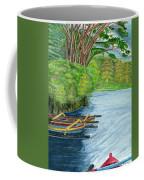 Lake Bratan Boats Bali Indonesia Coffee Mug