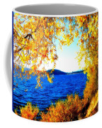 Lake Coeur D'alene Through Golden Leaves Coffee Mug