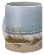 Lake Erie Ice Blanket With Sand Dunes And Dry Grass Coffee Mug