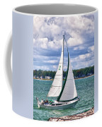 Lake Erie Sailing 8092h Coffee Mug