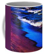 Lake Erie Shore Abstract Coffee Mug