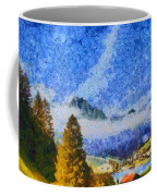 Lake In The Middle Of Swiss Beauty Coffee Mug