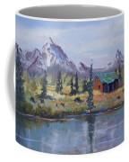 Lake Jenny Cabin Grand Tetons Coffee Mug