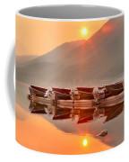 Lake Mcdonald Fiery Sunset Coffee Mug