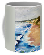 Lake Michigan Beach With Whitecaps Detail Coffee Mug