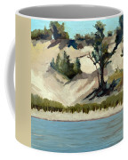 Lake Michigan Dune With Trees And Beach Grass Coffee Mug by Michelle Calkins