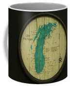 Lake Michigan Map Coffee Mug