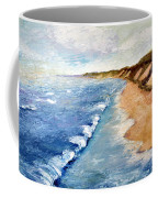 Lake Michigan With Whitecaps Ll Coffee Mug by Michelle Calkins