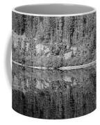 Lake Reflections In Black And White Coffee Mug
