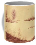 Lake Scene On Parchment Coffee Mug