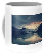 Lake Sylvenstein With Red Sky Coffee Mug