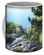 Lake Tahoe And Boulders Coffee Mug