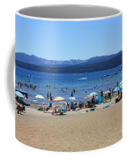 Lake Tahoe Beach Scene Coffee Mug