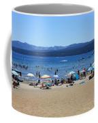 Lake Tahoe Beach Scene Coffee Mug