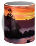 Lake Tahoe Sunset Colors Coffee Mug