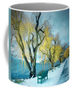 Lakeshore Walkway In Winter Coffee Mug