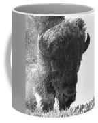 Lamar Valley Bison Black And White Coffee Mug