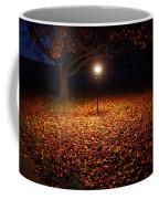 Lamp-lit Leaves Coffee Mug by Lars Lentz