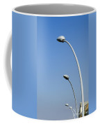 Lamp Posts On Blue Sky Coffee Mug