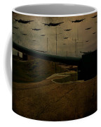 Lancasters Over Newhaven March 30th 1944 Coffee Mug