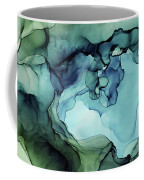 Land And Water Abstract Ink Painting Coffee Mug