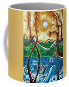 Land Of The Free Original Madart Painting Coffee Mug