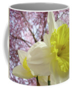 Landscape Daffodils Flowers Art Pink Tree Blossoms Spring Baslee Coffee Mug