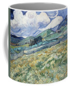 Landscape From Saint Remy At Wheat Fields  Van Gogh Series   By Vincent Van Gogh Coffee Mug