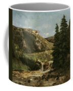 Landscape Near Ornans Coffee Mug