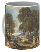 Landscape With A Man Washing His Feet At A Fountain Coffee Mug