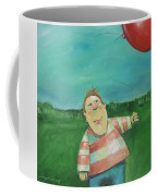 Landscape With Boy And Red Balloon Coffee Mug