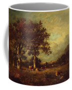 Landscape With Cows 1870 Coffee Mug