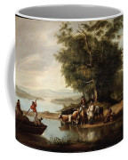 Landscape With Cows Coffee Mug