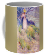 Landscape With Figure In Pink Coffee Mug
