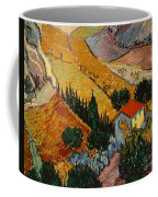 Landscape With House And Ploughman Coffee Mug by Vincent Van Gogh