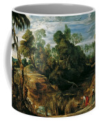 Landscape With Milkmaids And Cows Coffee Mug
