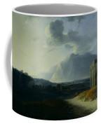 Landscape With Mount Stromboli Coffee Mug