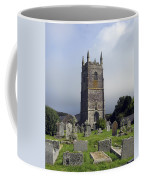 Lansallos Church Cornwall Coffee Mug