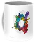 Lansing Small World Cityscape Skyline Abstract Coffee Mug