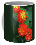 Lantana Bandana Red Flower Coffee Mug
