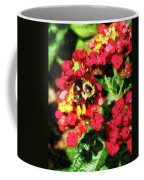 Lantanas And The Bee Coffee Mug