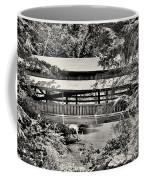 Lanterman's Mill Covered Bridge Black And White Coffee Mug