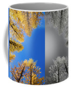 Larches Color To Black And White Reflection Coffee Mug