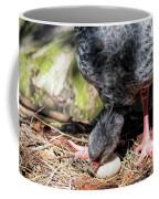 Large Gray South American Nesting Bird Rotating Egg Coffee Mug