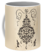 Large Pendant, Two Winged Fantasy Creatures With Trumpets At Bottom Coffee Mug